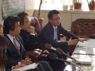 沖縄県庁にて記者会見