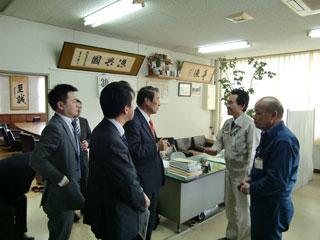 長崎県平戸漁港にて・漁船沈没事故の現地調査